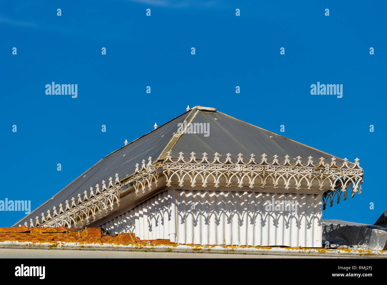 detail of an industrial building in the Alcantara district, Lisbon, Portugal Stock Photo