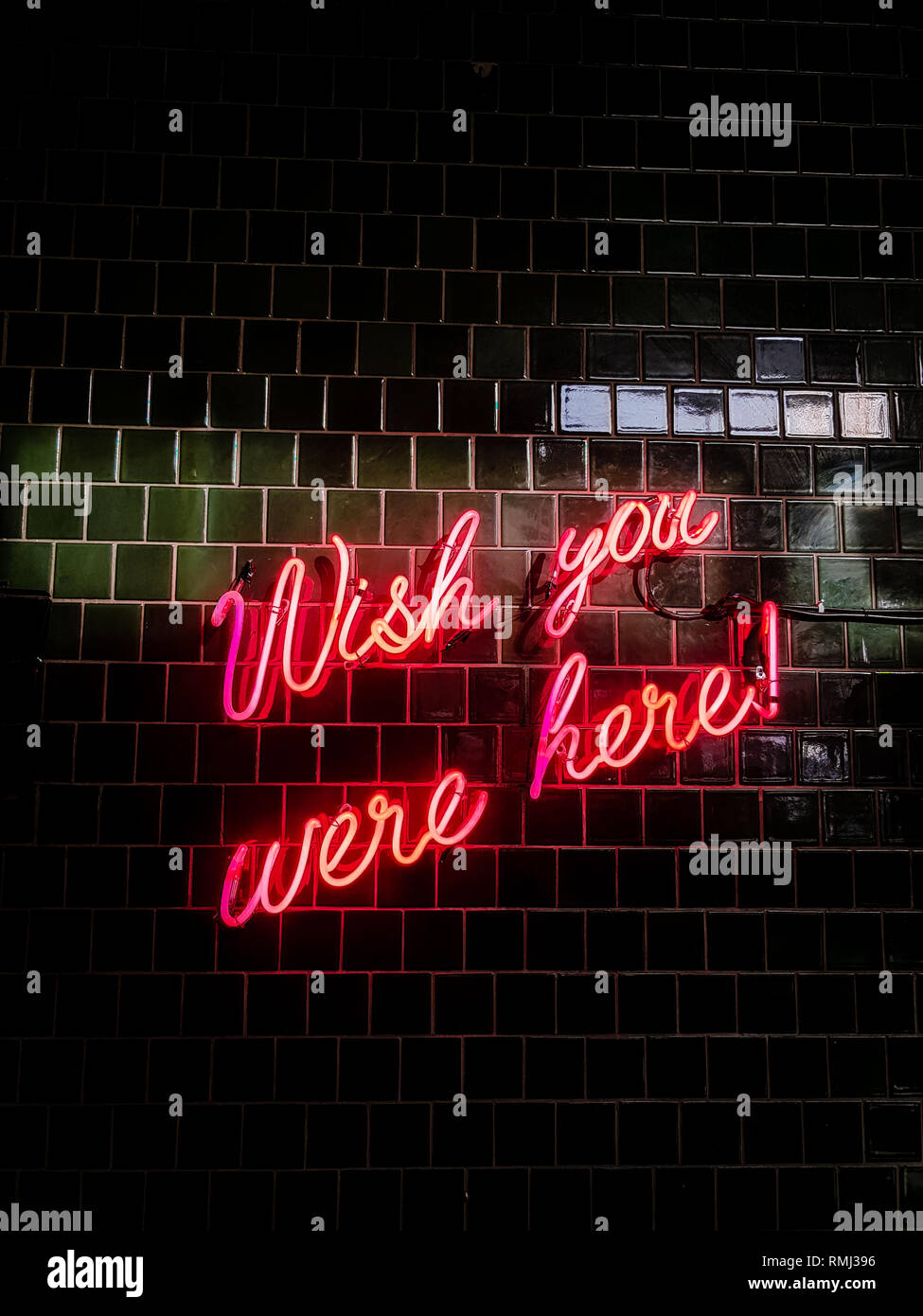 80's styled red neon text