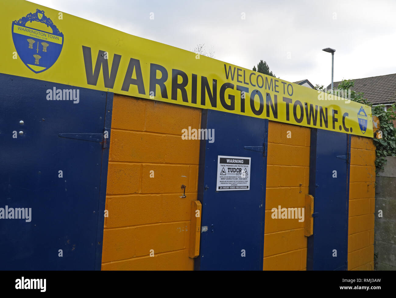 Cantilever Park, Home Ground of Warrington Town Football Club, (Stockton Heath Albion), Common Lane, Latchford, Warrington, Cheshire, WA4 2RS - Stock Image