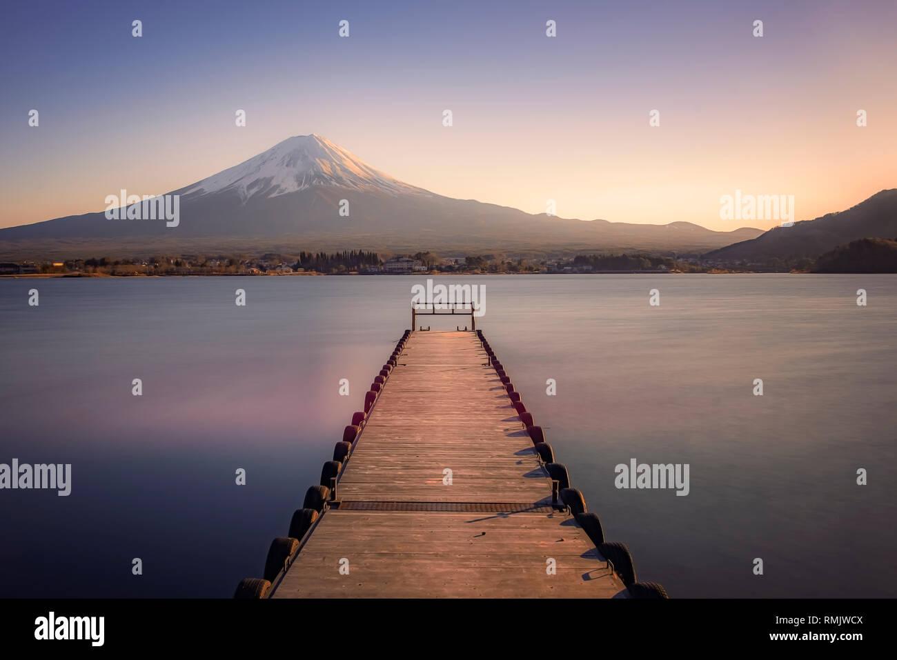 Mount Fuji in Kawaguchiko, Japan Stock Photo