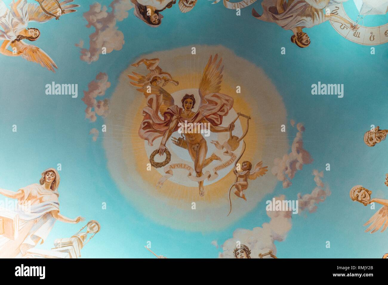 Beautiful artistic religious imagery painting - Stock Image