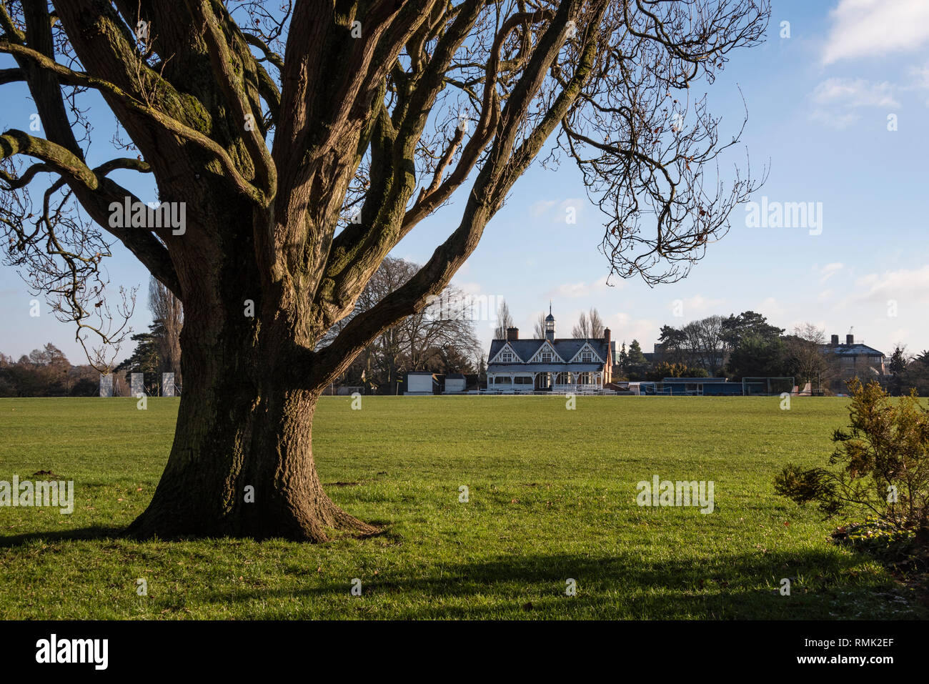 Oxford University Parks in Winter Stock Photo