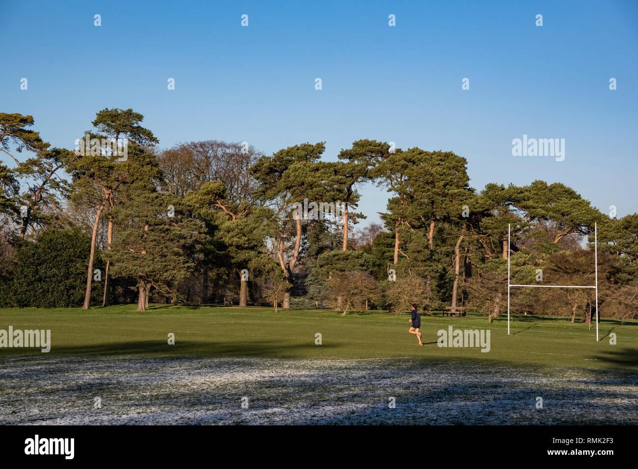 Oxford University Parks in Winter - Stock Image