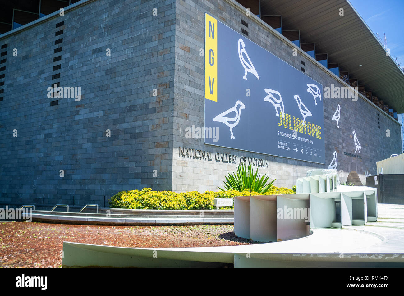 MELBOURNE - DEC 1 2018: National Gallery of Victoria - the oldest and most visited art gallery in Australia - Stock Image