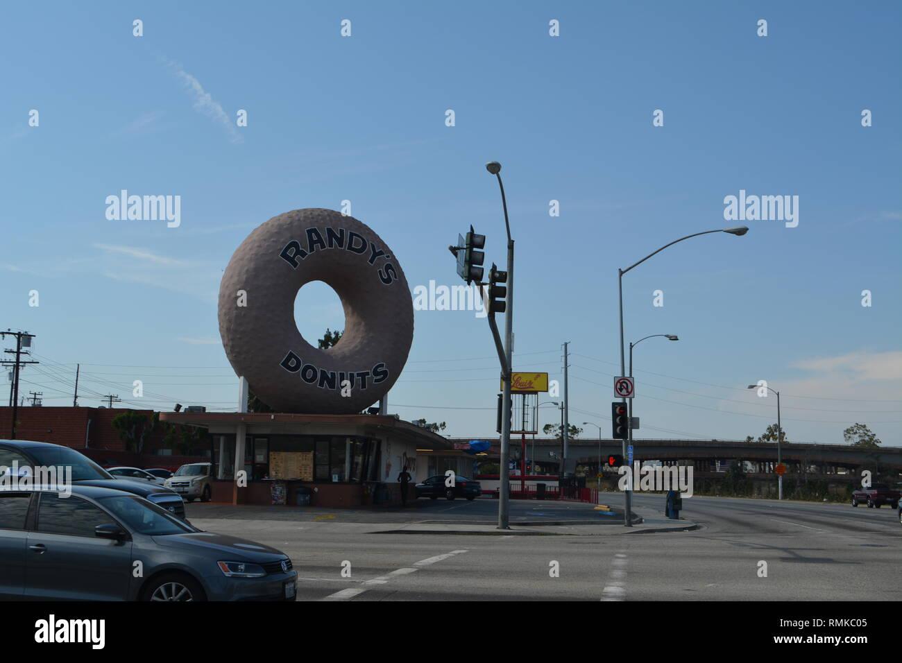 Inglewood Randy''s Donuts Shop Stock Photo