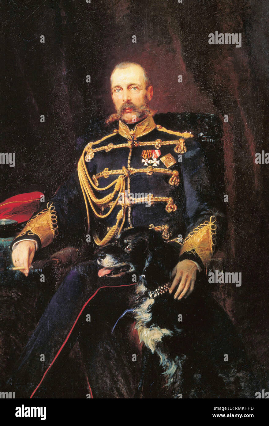 Tsar Alexander II of Russia, 1881 - Konstantin Makovsky - Stock Image