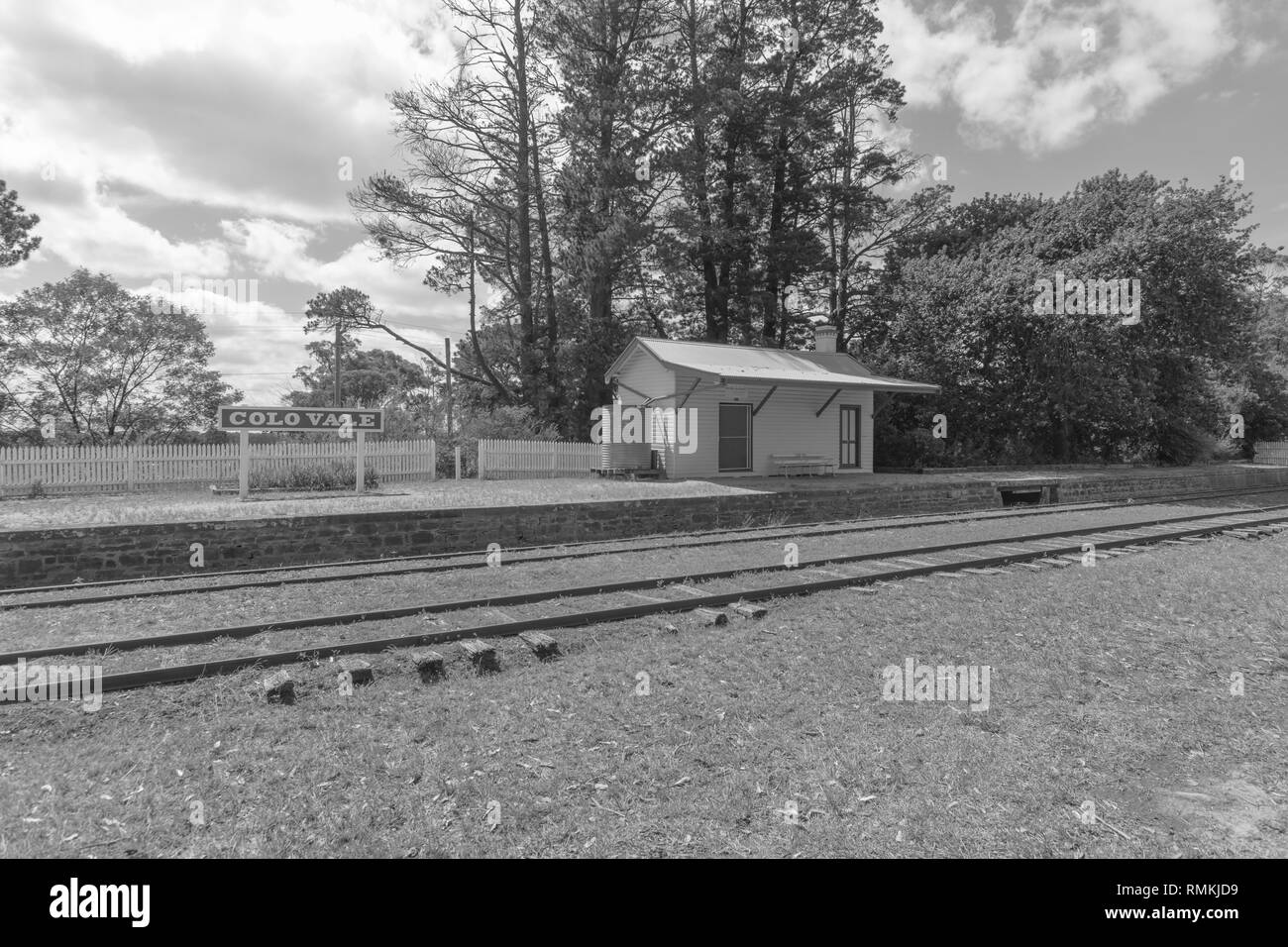Colo Vale Railway Station - Stock Image