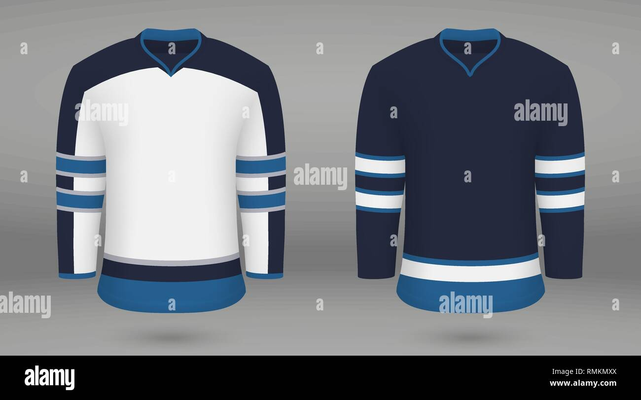 purchase cheap e3834 d0014 Realistic hockey kit, shirt template for ice hockey jersey ...