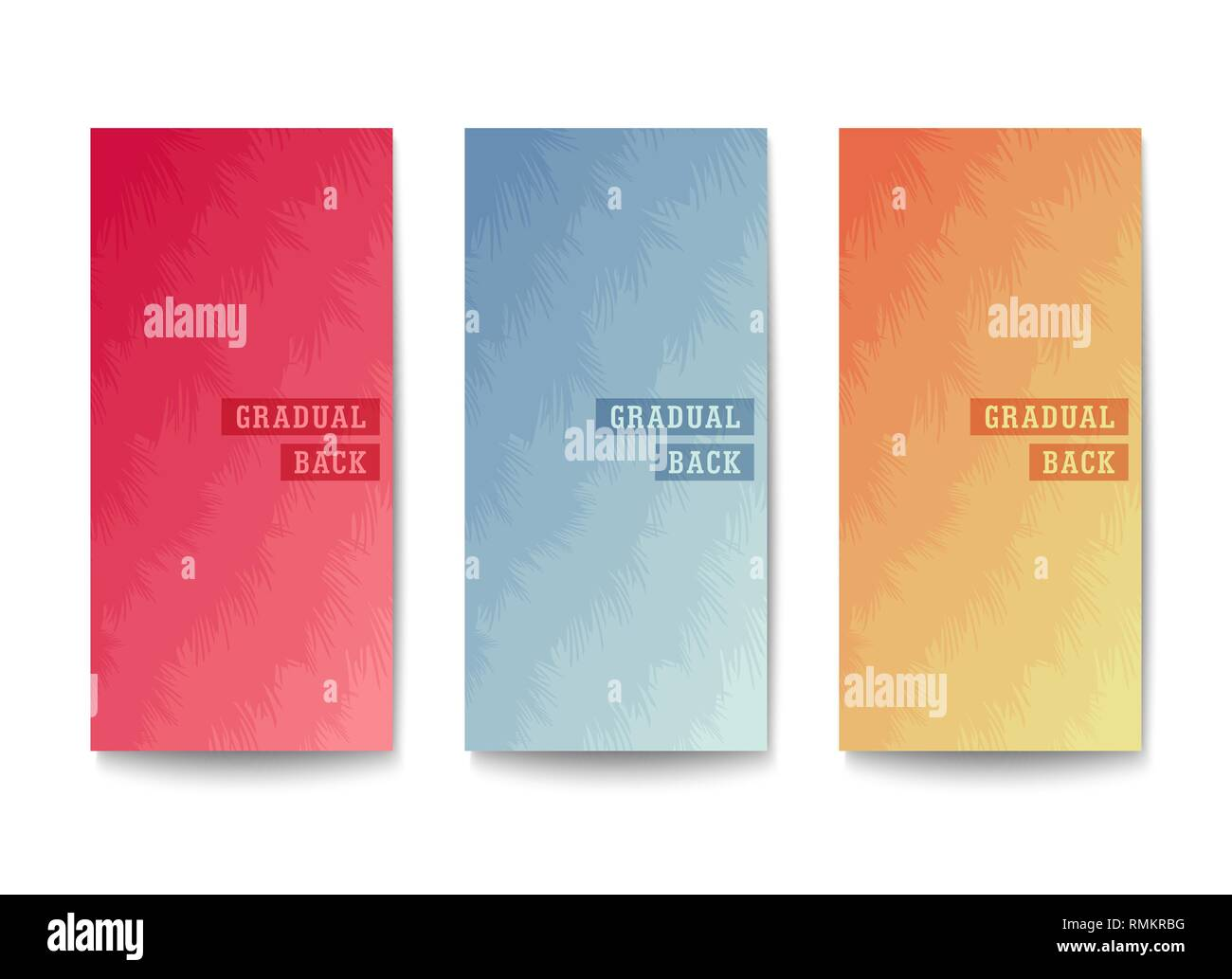 Layered backgrounds design. Layers of different tones with an uneven edge. Muted colors gradation. Vector template - Stock Image