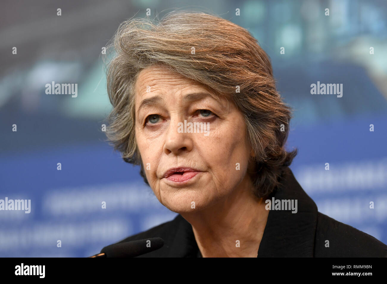 Charlotte Rampling attends the Hommage Charlotte Rampling press conference during the 69th Berlinale International Film Festival. © Paul Treadway - Stock Image