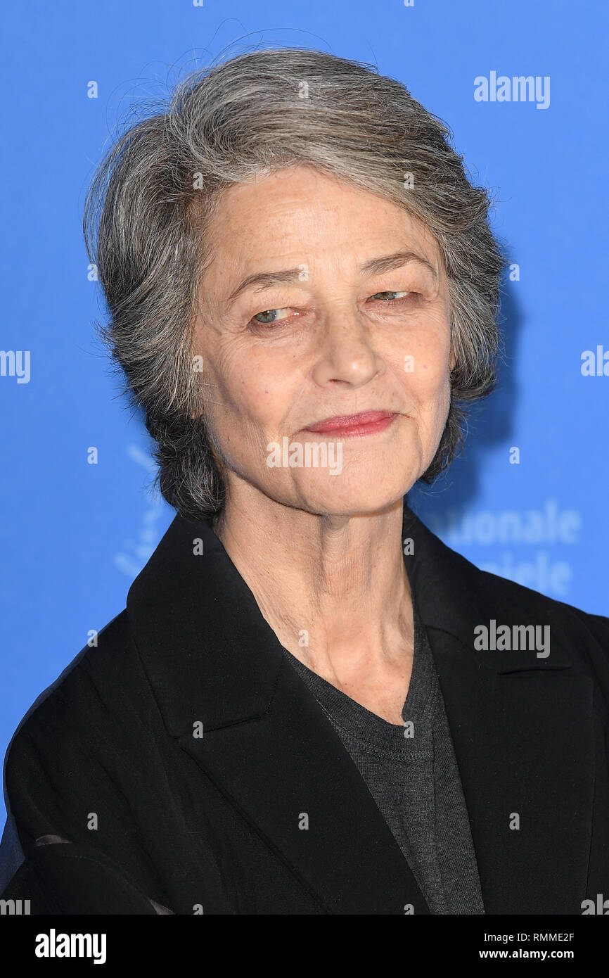 Charlotte Rampling attends the Hommage Charlotte Rampling photocall during the 69th Berlinale International Film Festival. 14.02.19 © Paul Treadway - Stock Image