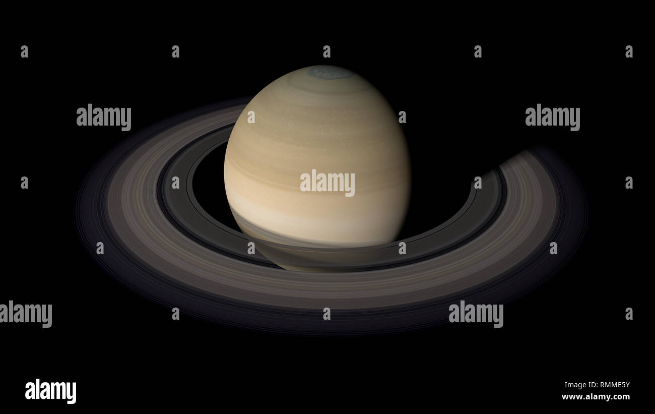 Saturn, second largest planet of the solar system. - Stock Image