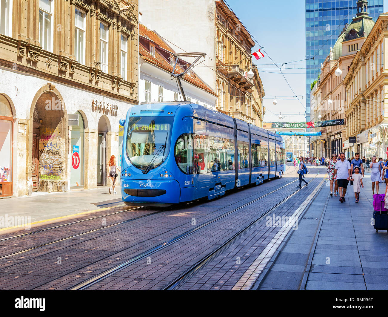 Zagreb Trams High Resolution Stock Photography And Images Alamy