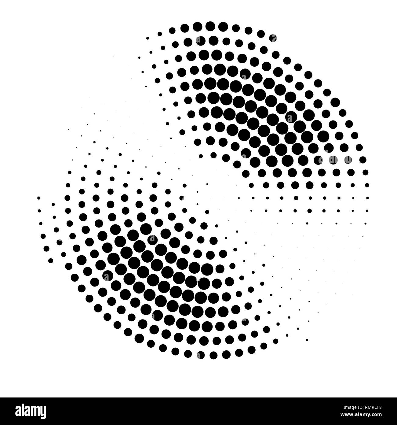 abstract halftone circle gradation background - Stock Image