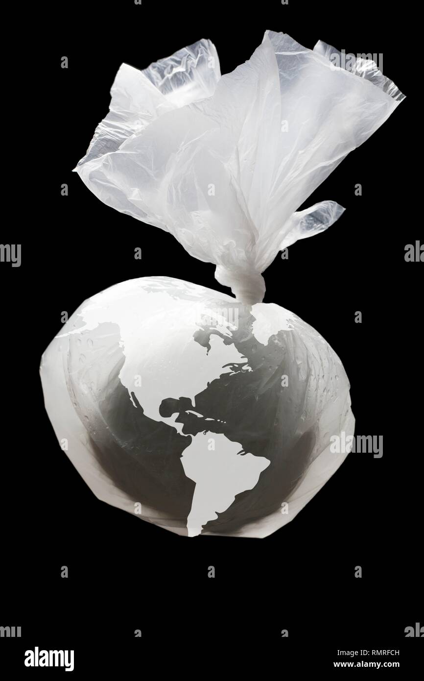 Global plastic waste pollution - Stock Image