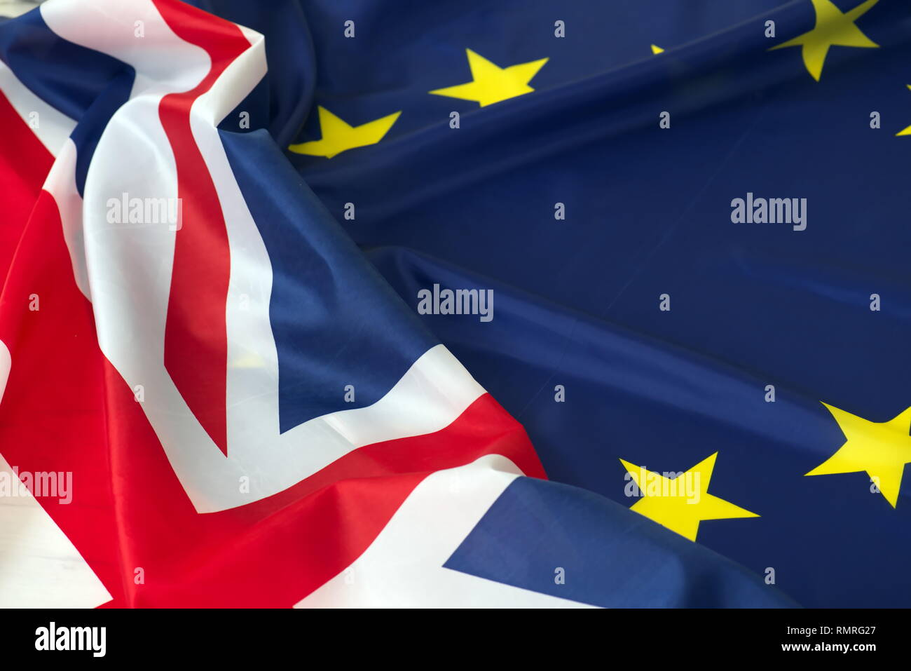 EU Union Jack flag European Union British flag Stock Photo