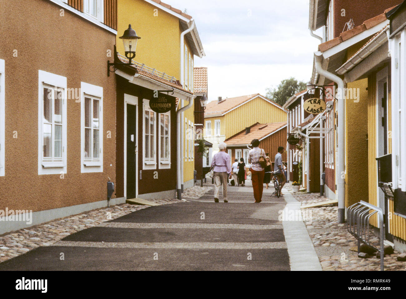 MORA Dalarna the city that is the goal of the Vasaloppet in the  winters - Stock Image