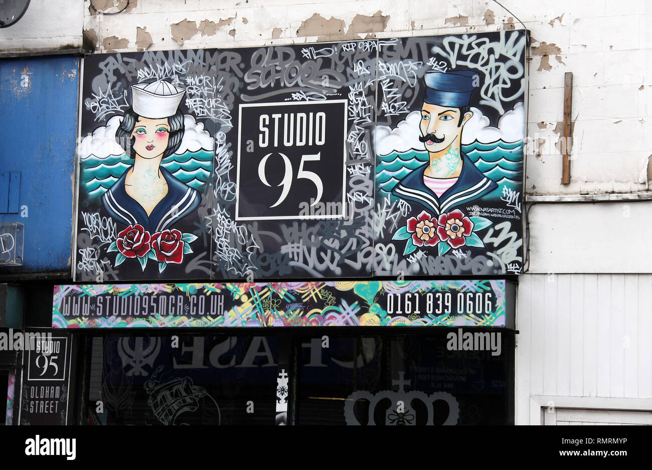 Studio 95 on Oldham Street in the Northern Quarter of Manchester - Stock Image