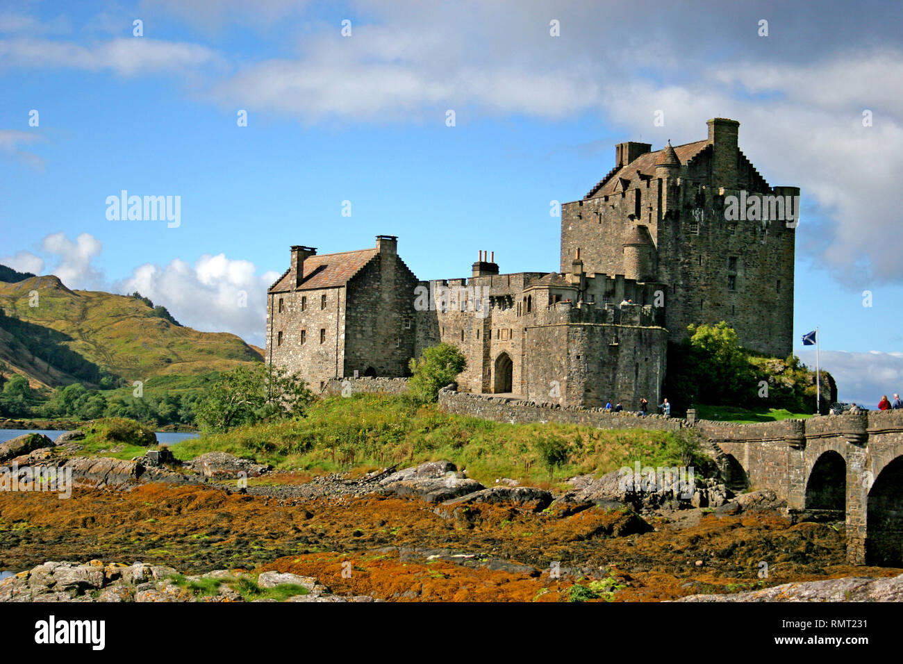 Eilean Donan Castle Dornie Lochalsh ,Braveheart Film Location, Western Highlands of Scotland.UK - Stock Image