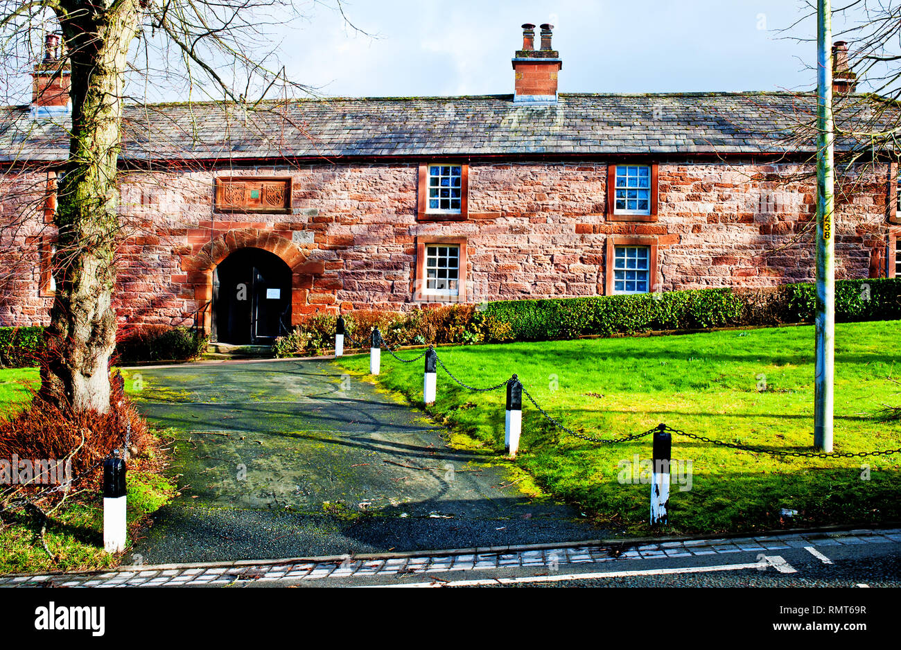 St Annes Hospital and Alms Houses, Boroughgate, Appleby in Westmorland, Cumbria, England - Stock Image