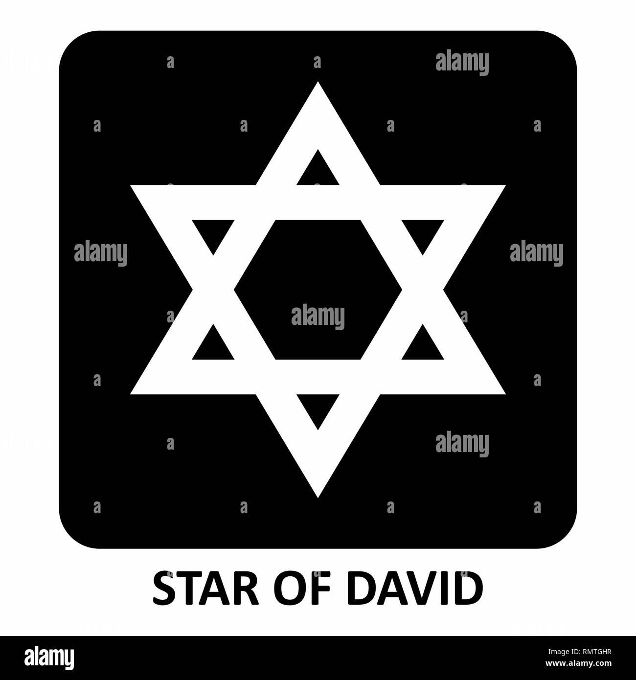Star of David illustration - Stock Image