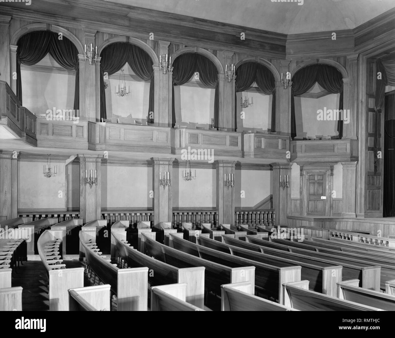 Dock Street Theater, Charleston, South Carolina, USA, Frances Benjamin Johnston, 1937 - Stock Image