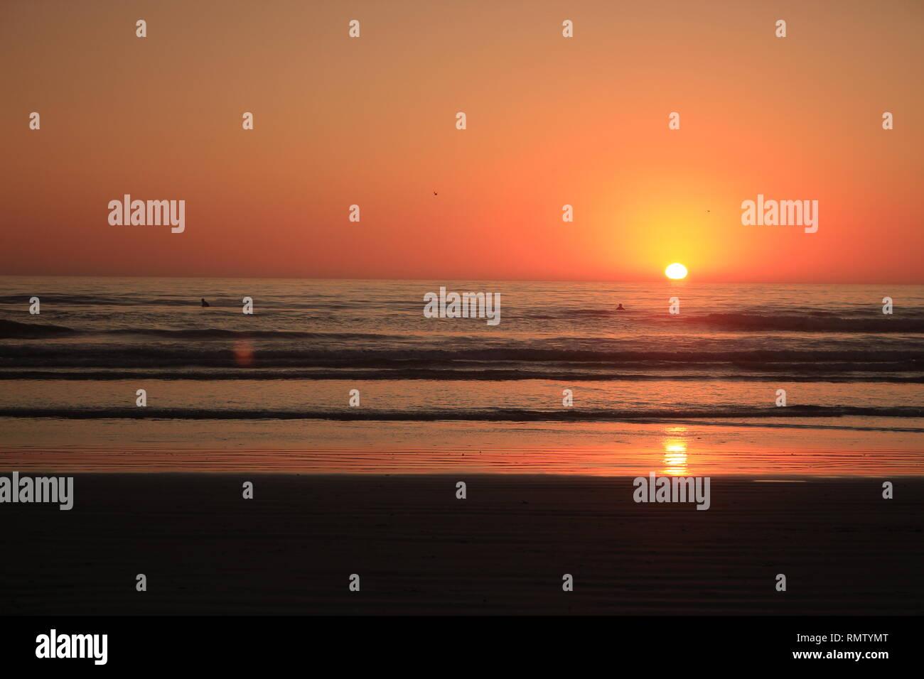 Sonnenuntergang am Strand - Stock Image