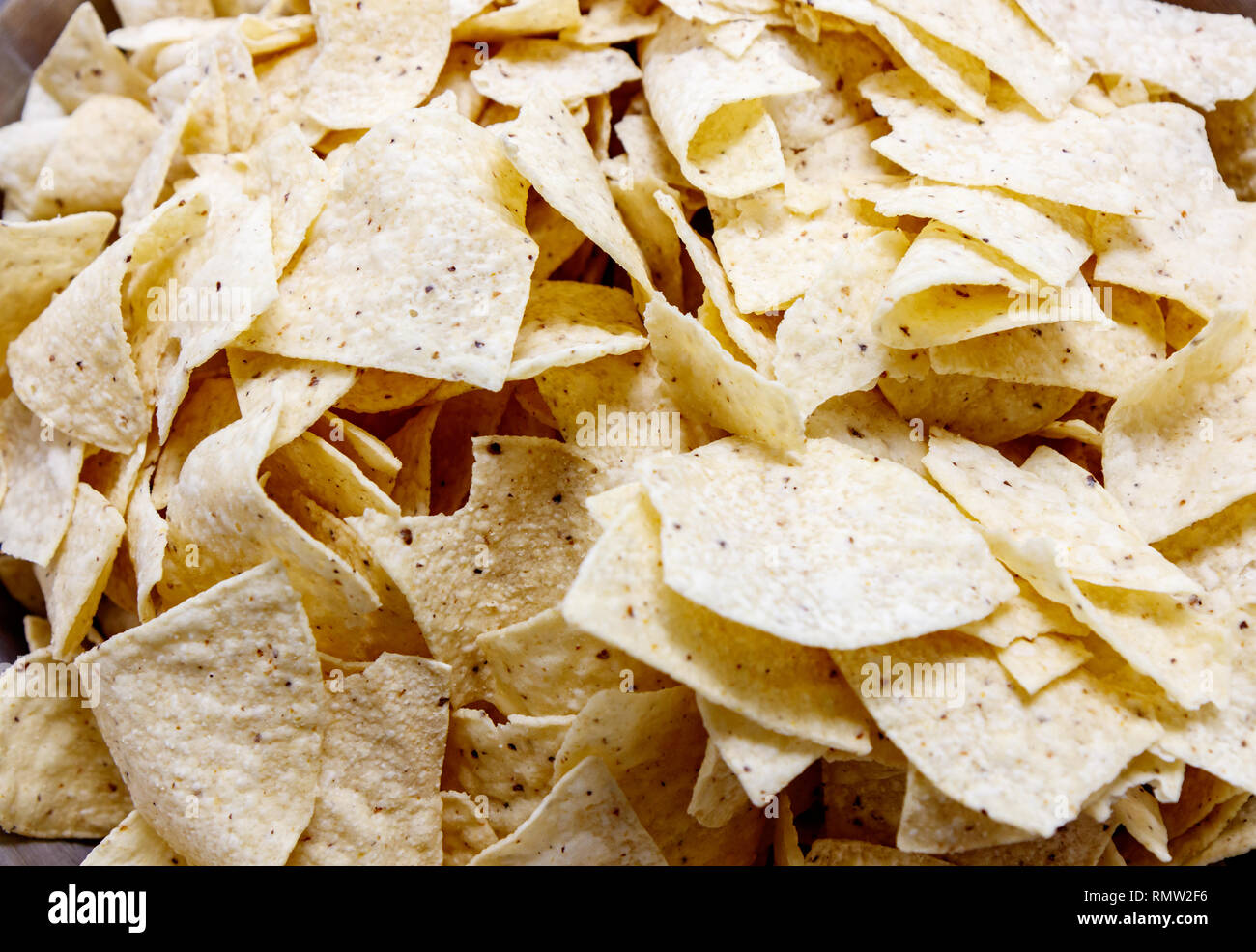 A Pile of Tortilla chips Stock Photo