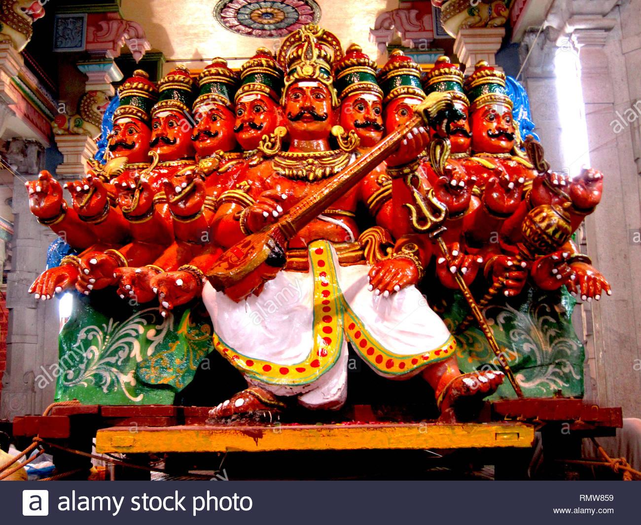 Ravanan Vimanam deity, Tiruvannamalai, Tamil Nadu, India, Asia - Stock Image