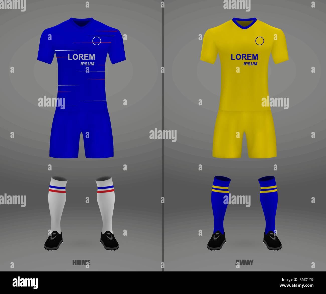 the best attitude b693f 92f55 football kit Chelsea 2018-19, shirt template for soccer ...