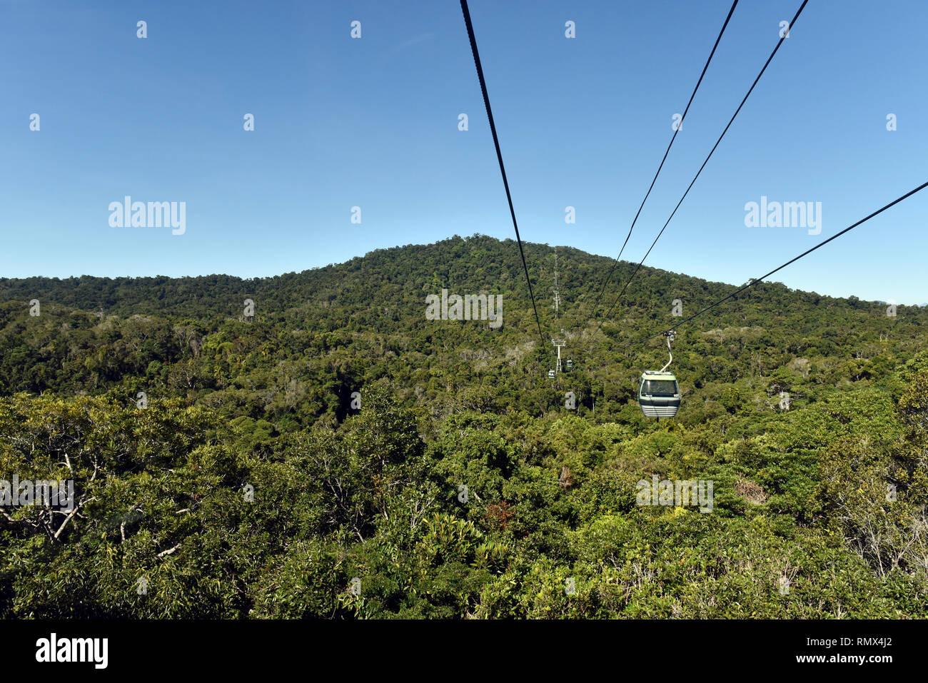 Skyrail Rainforest Cableway Kuranda-Cairns - Stock Image
