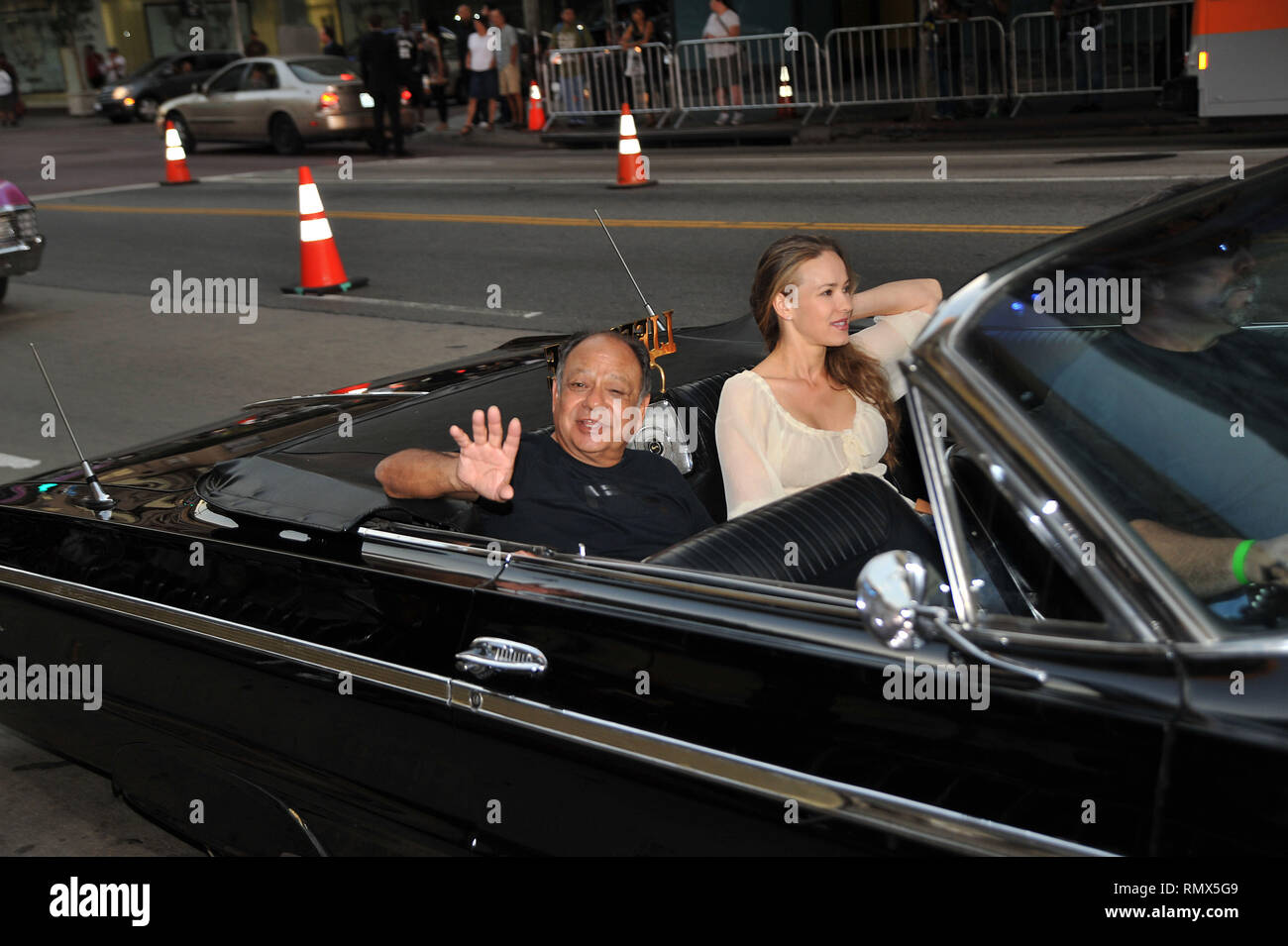 Cheech Marin and wife  Machete Premiere at the Orpheum Theatre In Los Angeles.CheechMarin_48  Event in Hollywood Life - California, Red Carpet and backstage, movie celebrities, TV celebrities, Music celebrities, Topix, Bestof, Arts Culture and Entertainment, Photography,  inquiry tsuni@Gamma-USA.com , Credit Tsuni / USA,  accessory wear by people on event. shoes, jewelery, ring, earring, bag ambience and others. from 2010 - Stock Image
