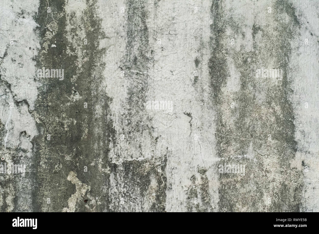 Old paint on a diry wall - Stock Image