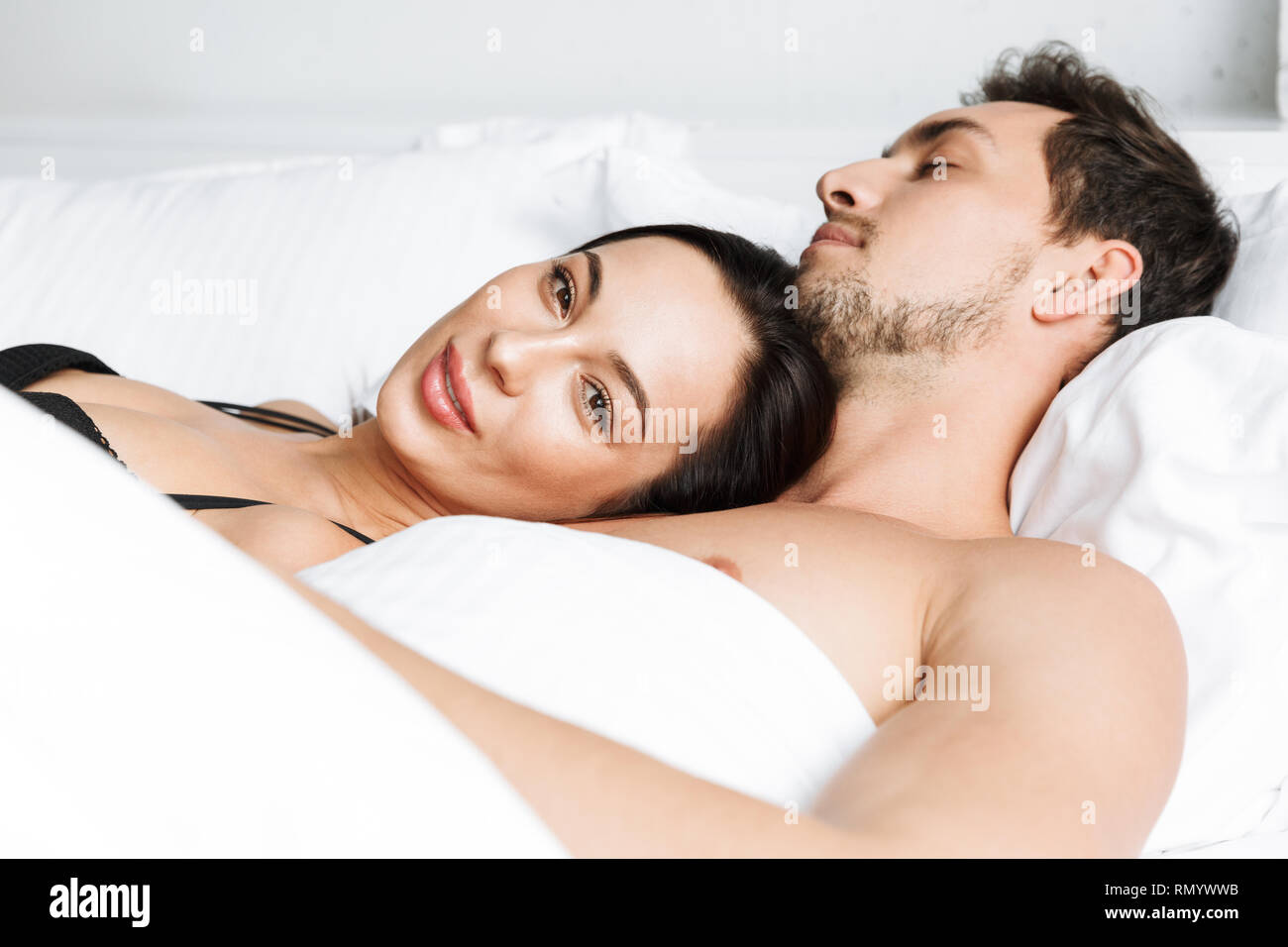 Photo Of Shirtless Couple Man And Woman Hugging Together While