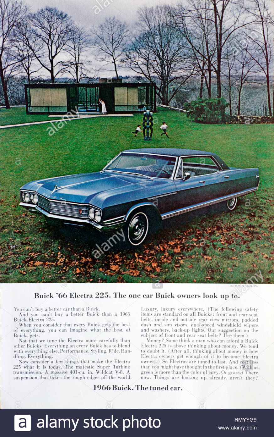 Vintage advertising for the Buick Electra 225 Car 1966 Stock Photo