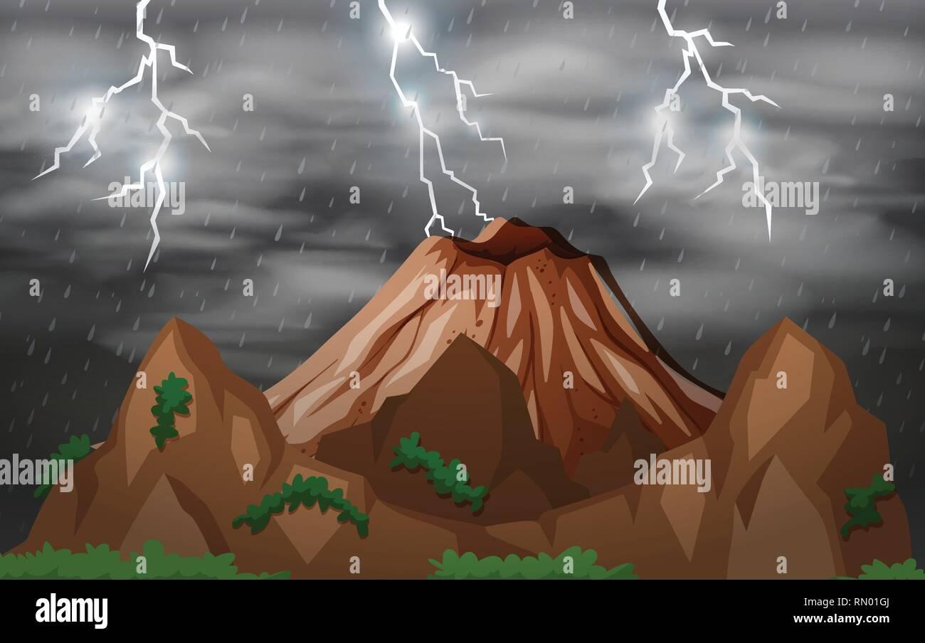 Volcano Lightning Stock Photos & Volcano Lightning Stock