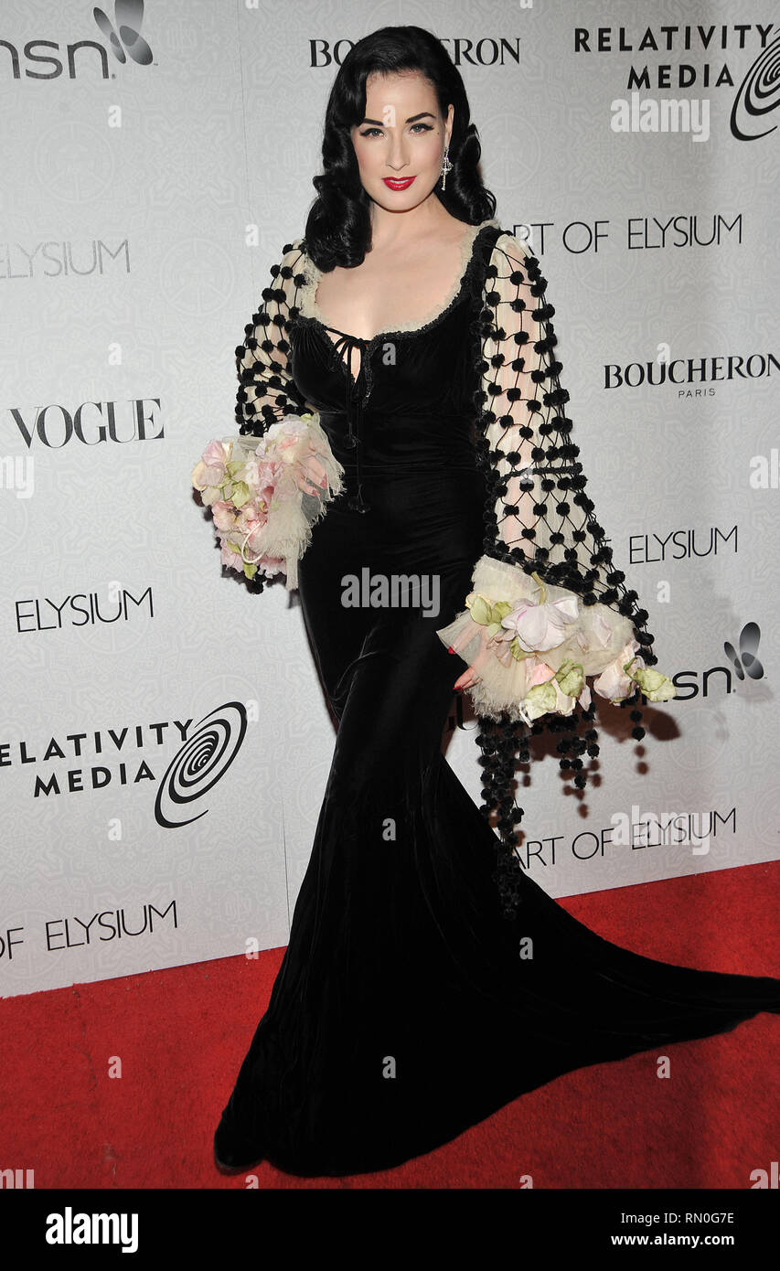 cfcf106f4ea8 Dita Von Teese  39 - The Art of Elysium Gala at the Beverly Hilton In Los