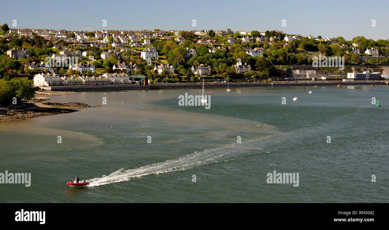 Cobh waterfront, Cork harbour. - Stock Image