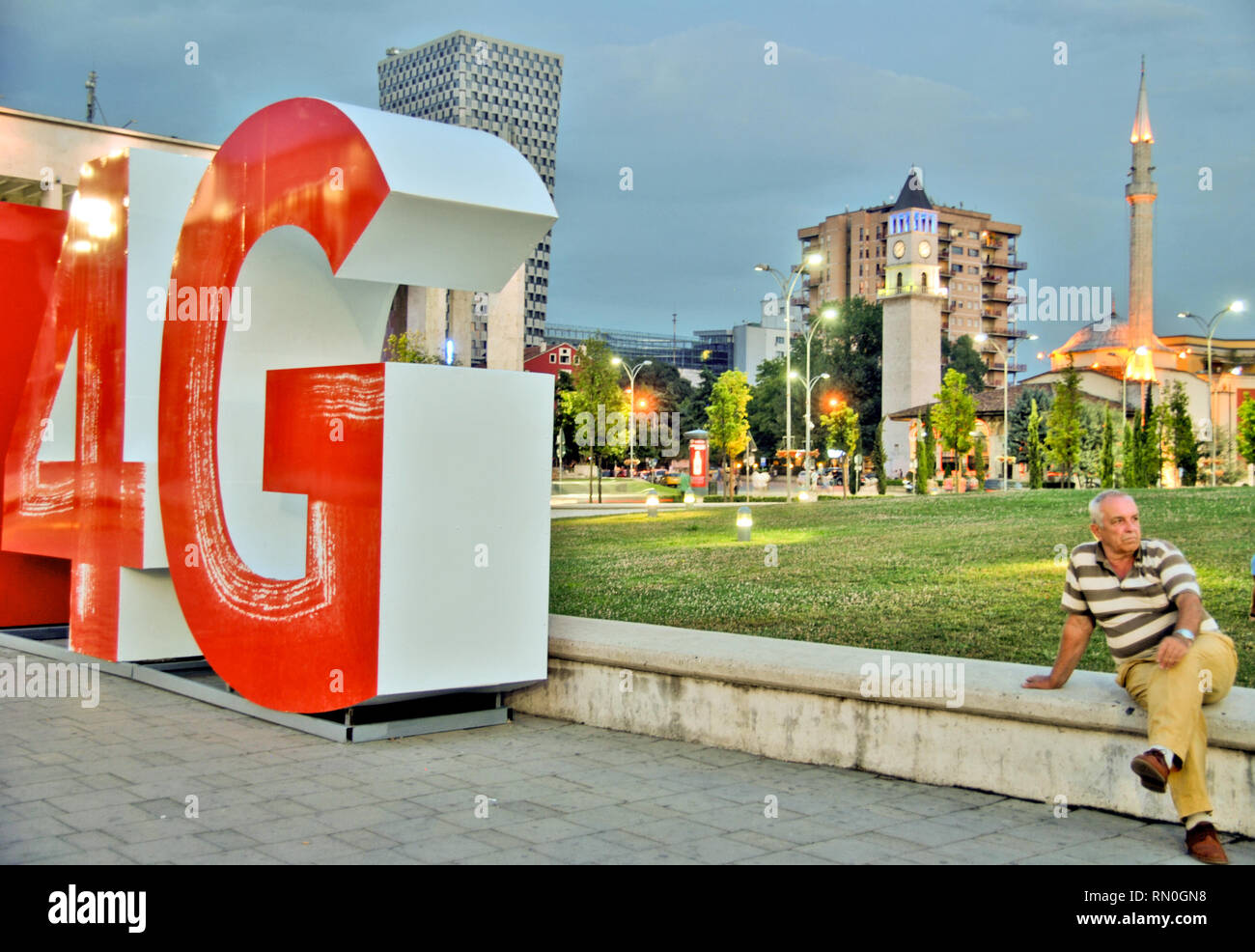 City centre of Tirana, capital of Albania. August 2015 - Stock Image