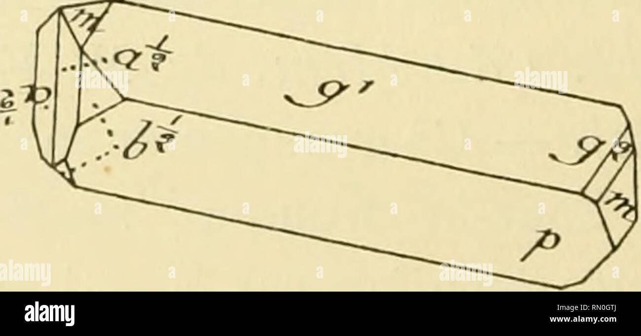 . Annales de la Station limnologique de Besse. Natural history; Natural history. Fi: XVI. — Macle de Baveno et cristal simple parallèle à un des composants de la macle (fig XI du Mém.. et 29 du Mém. additionnel de M. F. Gonnard — -. de M. Lacroix,). Comme dans le groupement XI, le cristal simple prend l'orientation d'un compo- sant de la maclede Baveno, qu'il semble continuer : le tout est allongé suivant p g1 . Le cristal simple peut avoir ses axes parallèles soit à D, soit à (i, et masquer H ou P, ce qui donne 4 subdi- visions. Dans les deux figures 45 et 46, le cristal simple est parallèle  - Stock Image