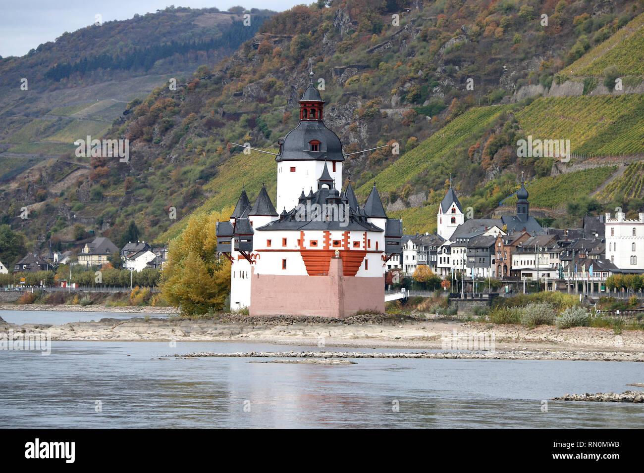 Pfalzgrafenstein, Kaub am Rhein, Germany Stock Photo