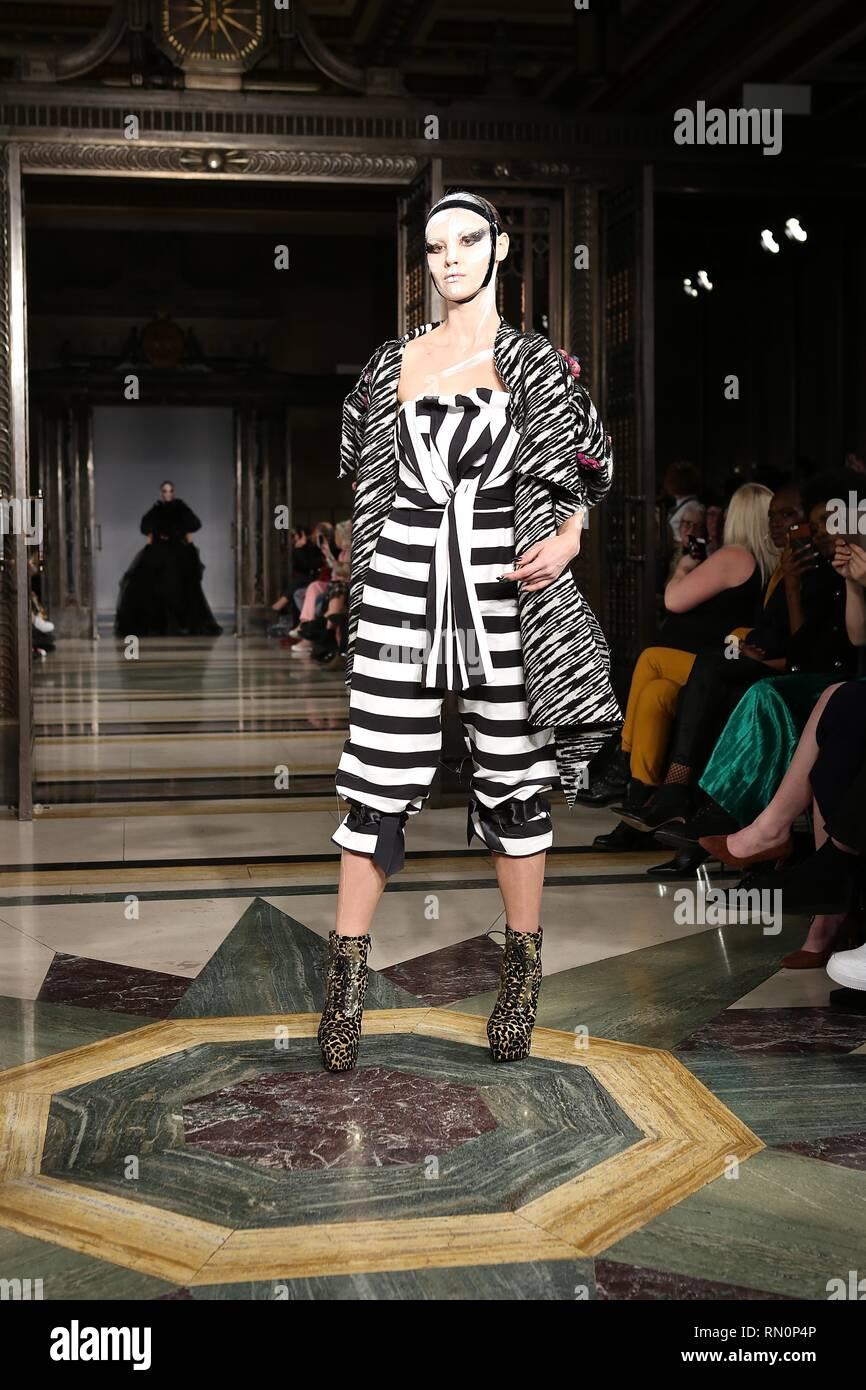 London Fashion Week 15 February 2019 Stock Photo: 236659942