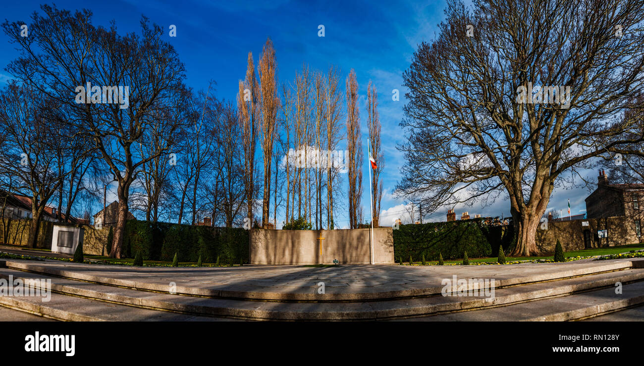 The burial plot of the leaders of the 1916 Rising. Arbour Hill, Dublin, Ireland. - Stock Image