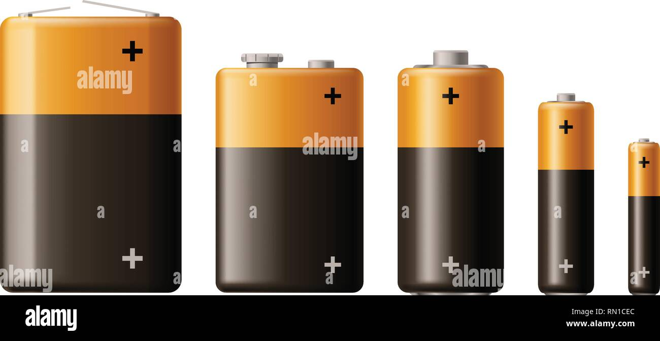 battery type set - Stock Vector