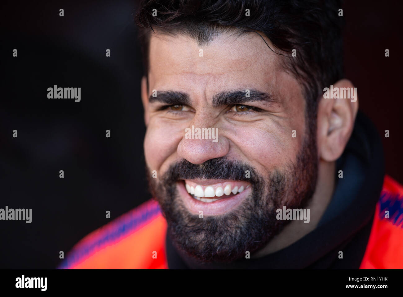 Diego Costa of Atletico Madrid during the match between Rayo Vallecano vs Atletico Madrid of La Liga, date 24, 2018-2019 season. Stadium of Vallecas,  Madrid, Spain - 16  FEB 2019. - Stock Image