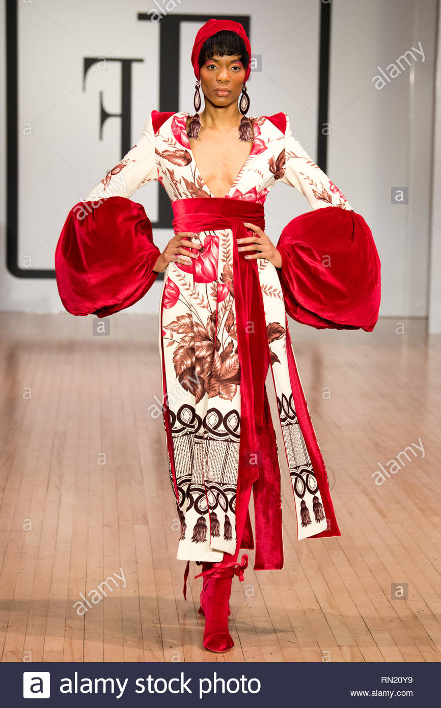 London Uk 16th February 2019 British Fashion Designer Tuncer