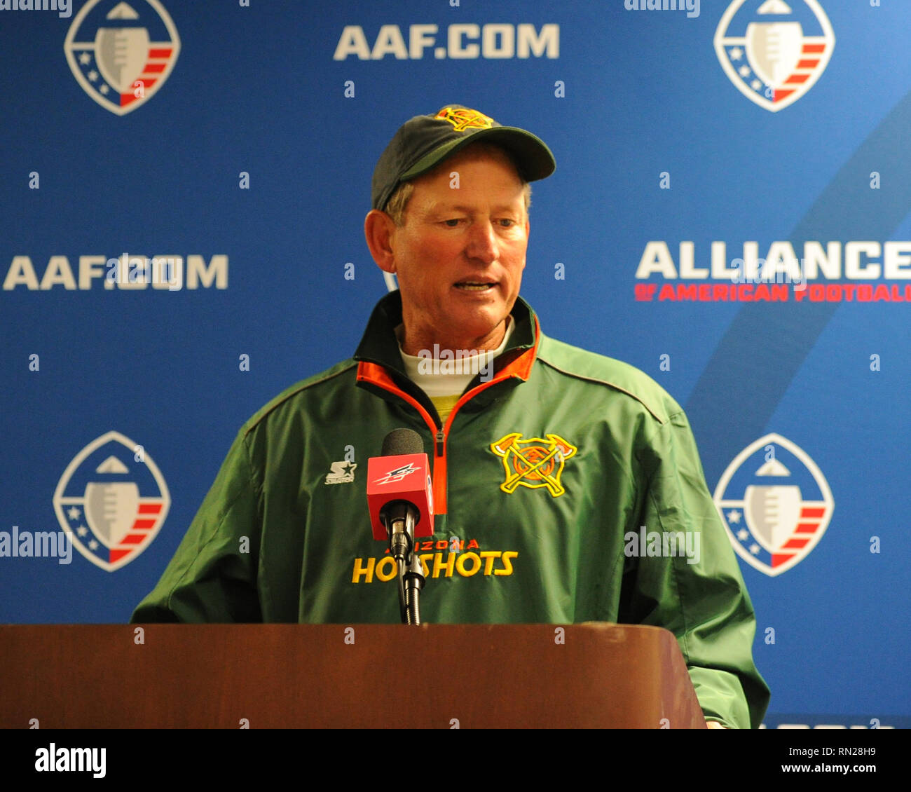 Memphis TN USA 16th Feb 2019 Arizona Hotshots Head Coach