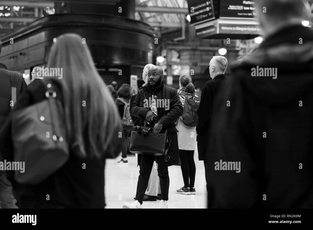 this is a project called rush hour photographed in Glasgow city centre - Stock Image