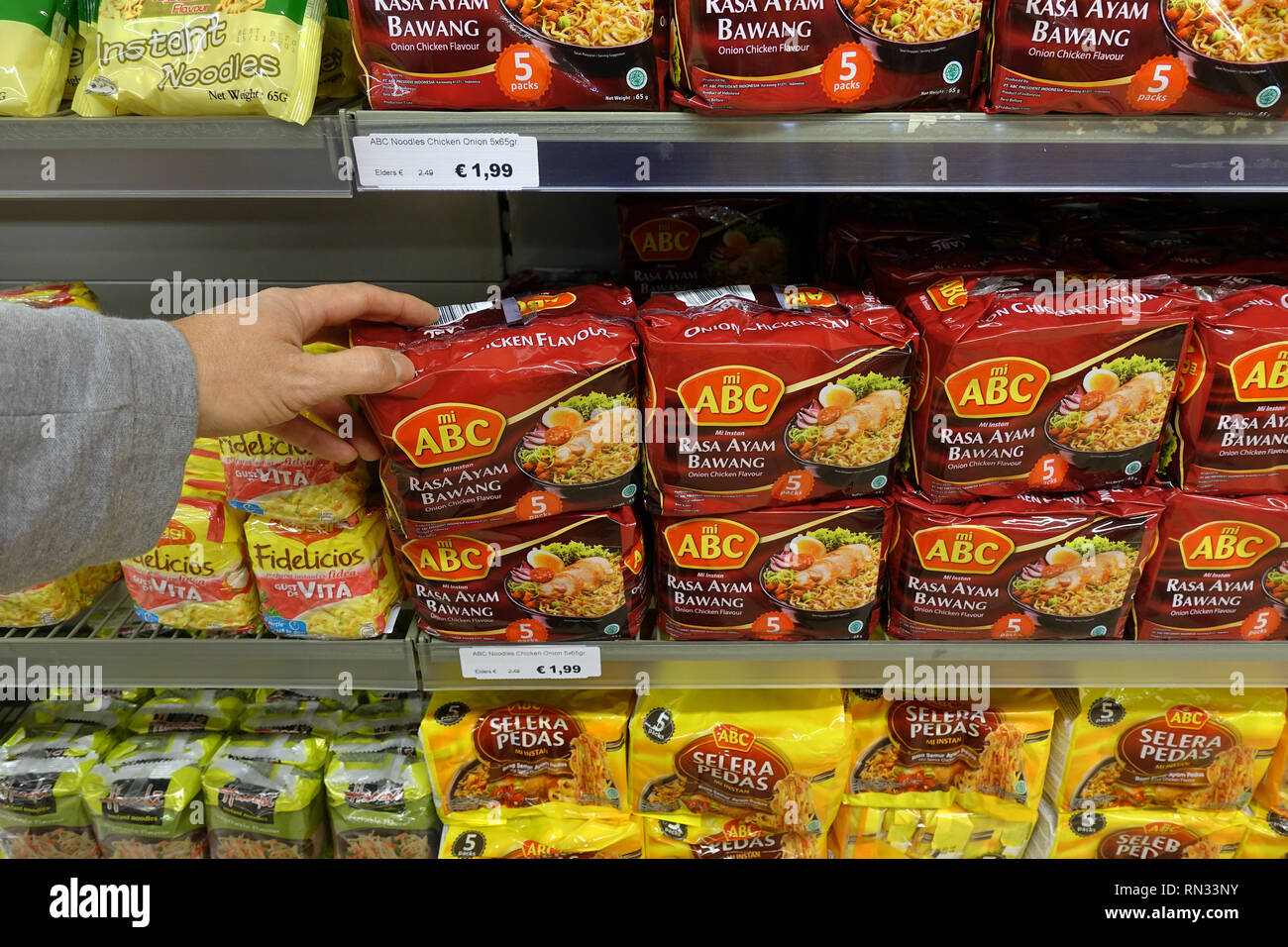 instant soups, and noodles - Stock Image