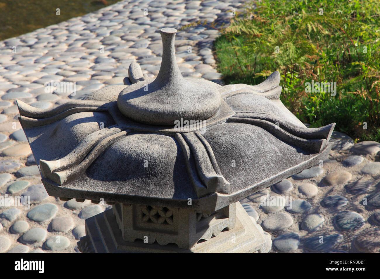 Japanese Garden With Lantern Stock Photos & Japanese Garden With